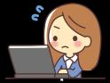 パソコンで頑張る女性